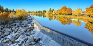 Waterfall on the Snake River, Idaho Falls