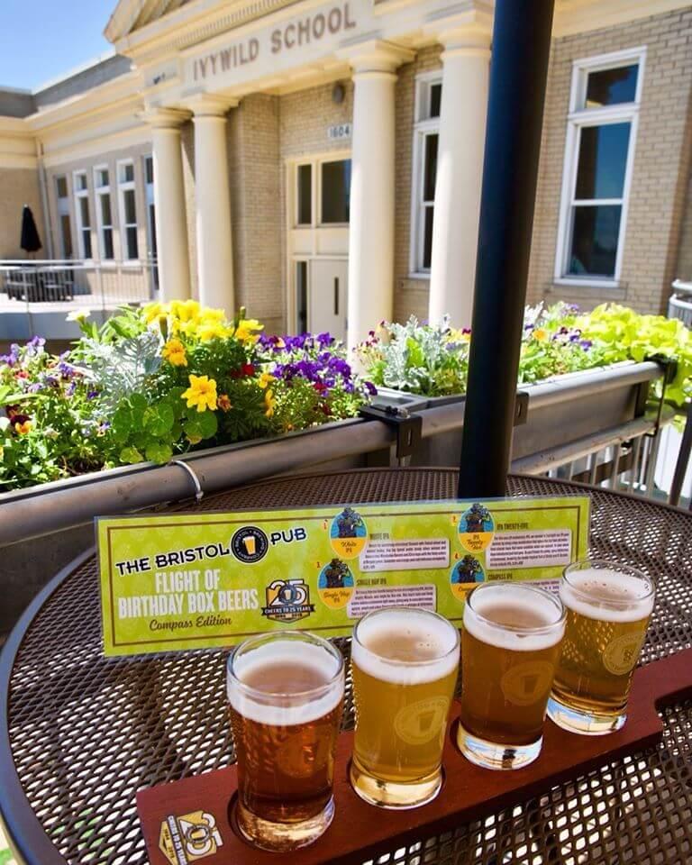Beer Flight at Bristol Brewing Company