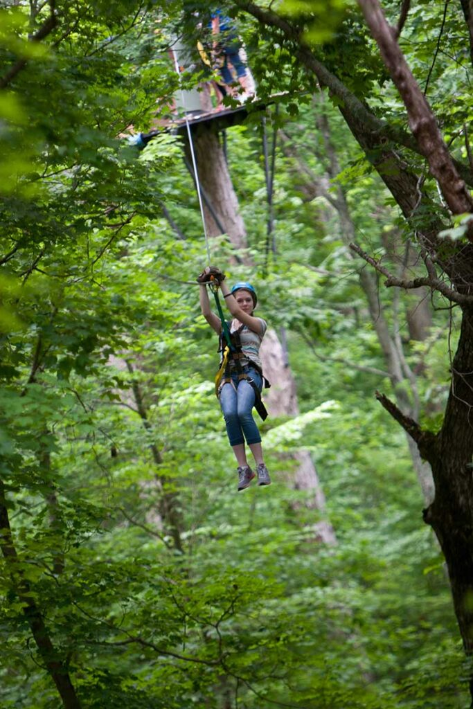 Harrison County CVB Zip Line
