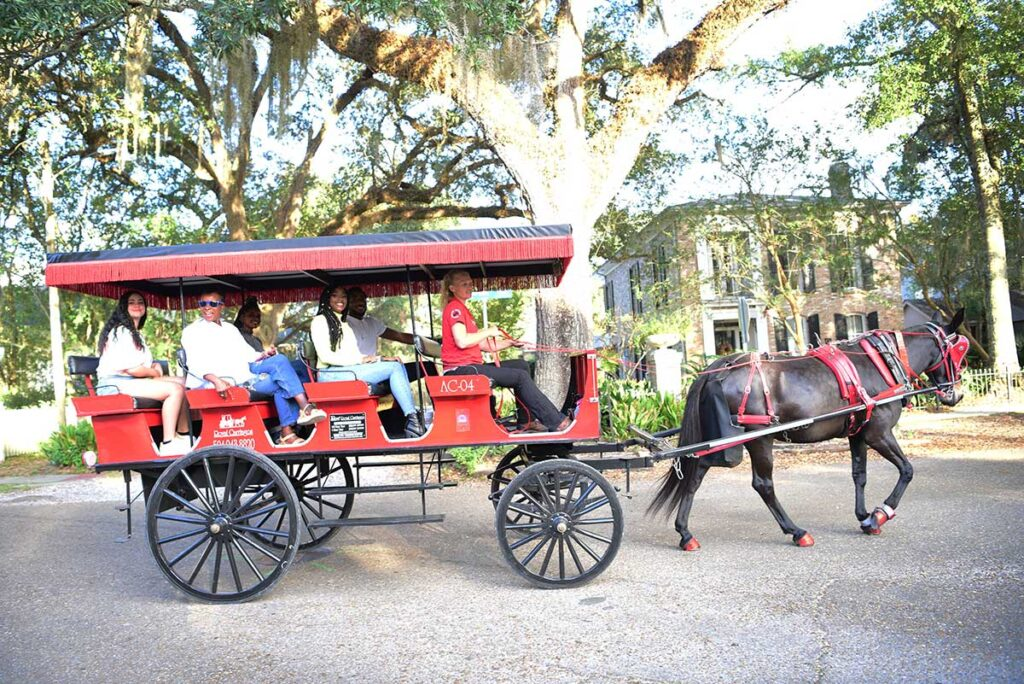 Royal Carriages in downtown Covington.