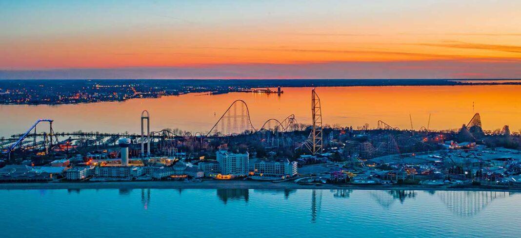 Cedar Point sunset Lake Erie Shores & Islands
